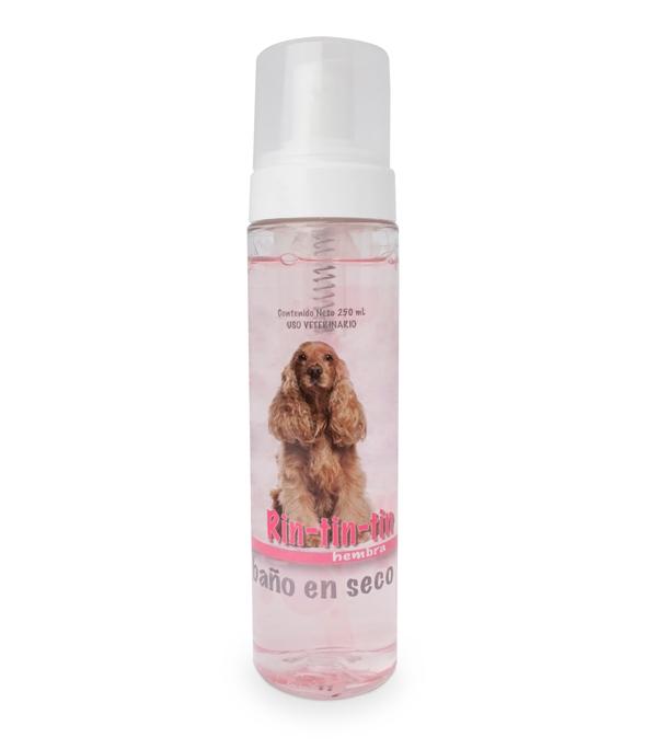 Rin Tin Tin baño seco rosa
