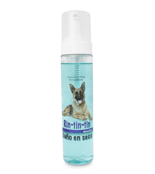 Rin Tin Tin baño seco azul