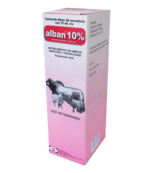 Alban 10% 15 ml, caja c/40 sobres