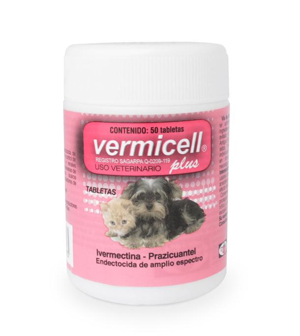 Vermicell Plus Tarro 50 tabletas